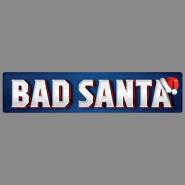 """Наклейка на номер """"Bad santa"""""""