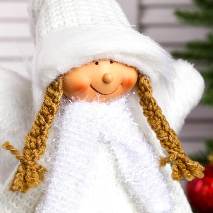 """Кукла интерьерная """"Ангел-девочка в белом платье с сердечками"""" 50 см"""