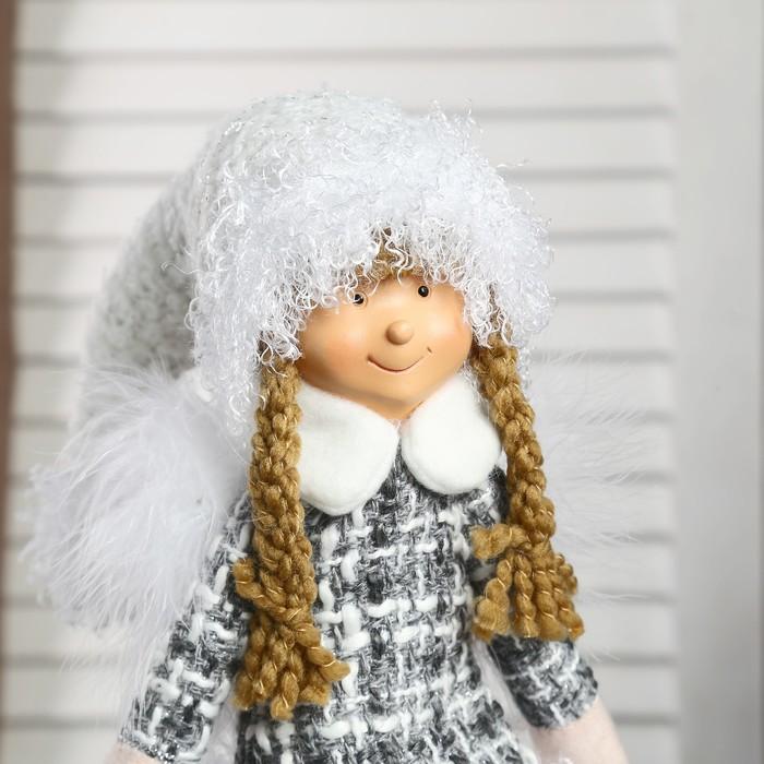 """Кукла интерьерная """"Ангел-девочка в платье с кудрявой юбочкой"""" 48 см"""
