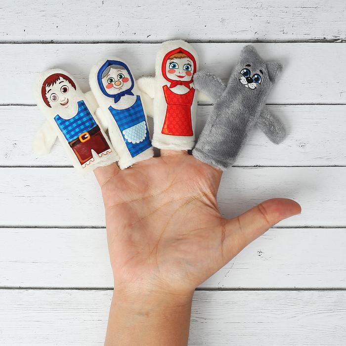 "Кукольный театр ""Красная шапочка"" 4 персонажа + сценарий"