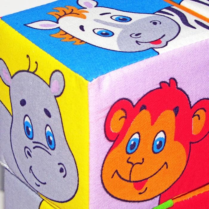 """Развивающая игрушка - кубики """"Собери картинку"""", животные Африки"""