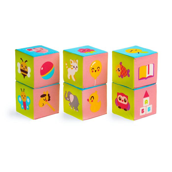 """Набор мягких кубиков """"Малышарики. Предметики"""""""