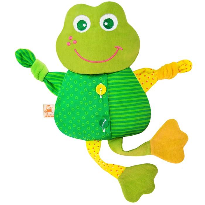 "Развивающая игрушка с вишнёвыми косточками ""Лягушка. Доктор мякиш"""