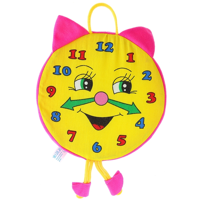 Развивающая игрушка-погремушка «Часики», цвета МИКС