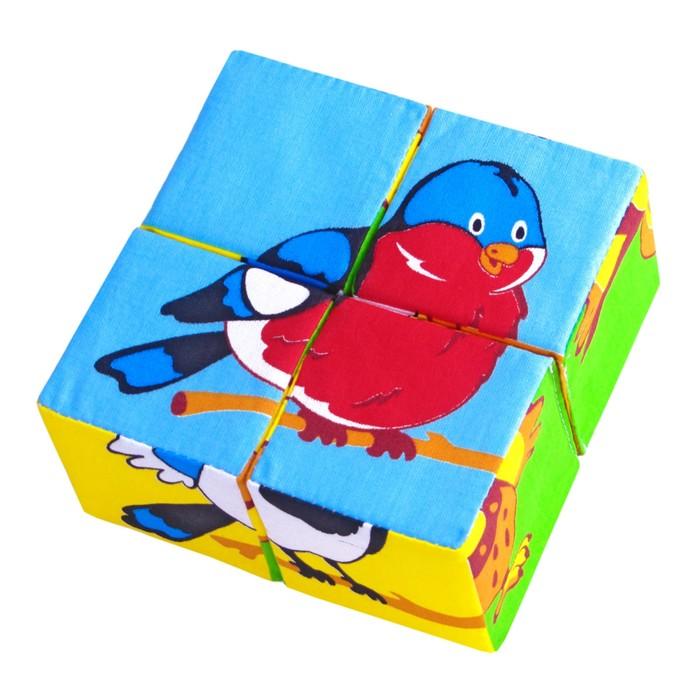 """Набор мягких кубиков """"Собери картинку. Птицы"""""""