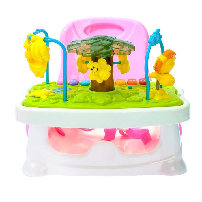 Развивающий столик 2 в 1 «Счастливый ребёнок» со съёмной игровой панелью