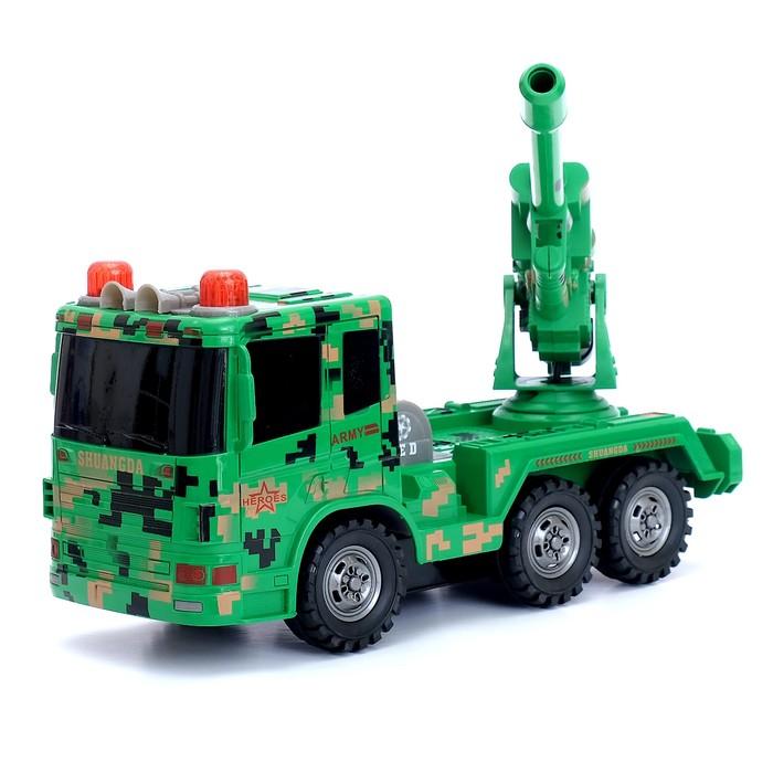 Машина радиоуправляемая «Гаубица», работает от аккумулятора, стреляет, 4WD