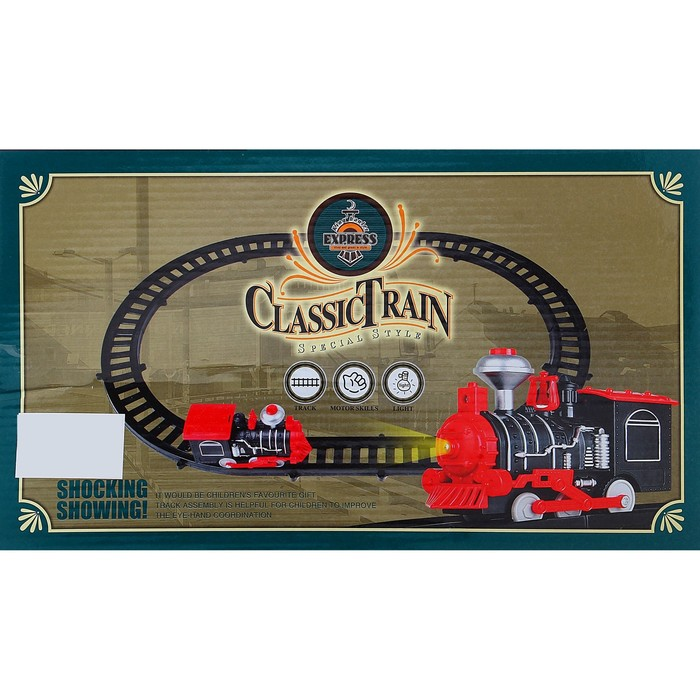 Железная дорога «Классический паровоз», со световыми эффектами, протяжённость пути 1,64 м