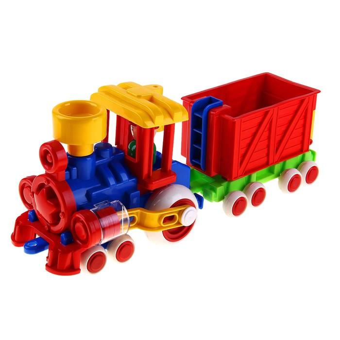 Паровозик «Ромашка с 1 вагоном»