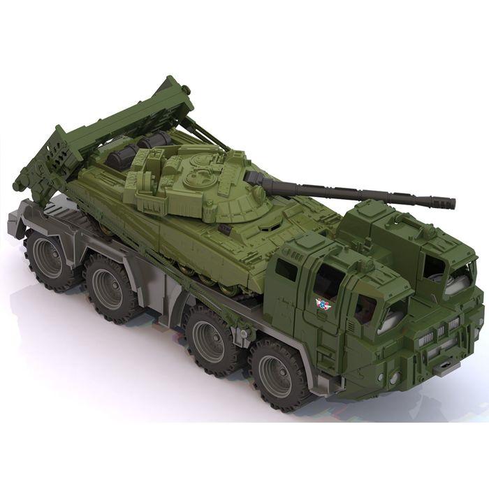 Военный тягач «Щит», с танком