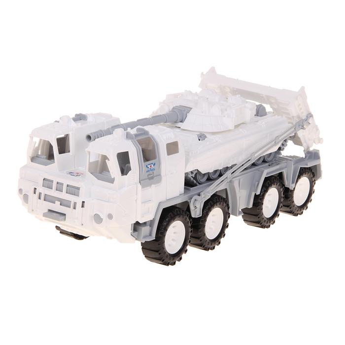 Военный тягач «Арктика», с танком