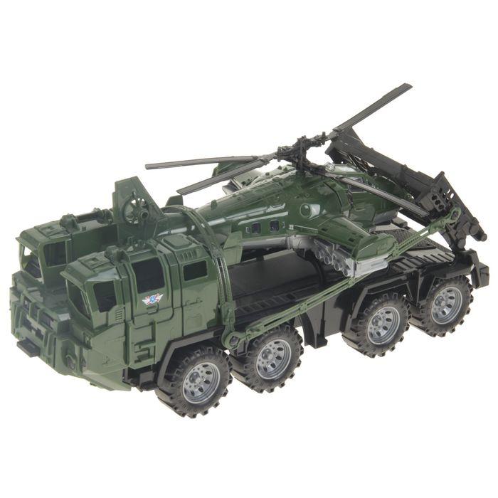 Военный тягач «Щит», с вертолетом