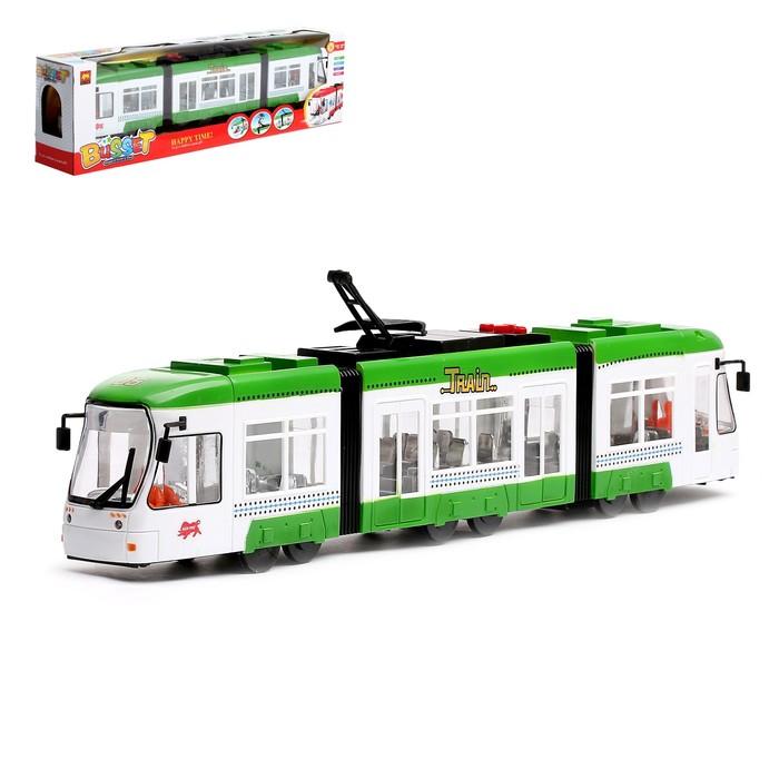 Трамвай «Городской», работает от батареек, световые эффекты, цвета МИКС
