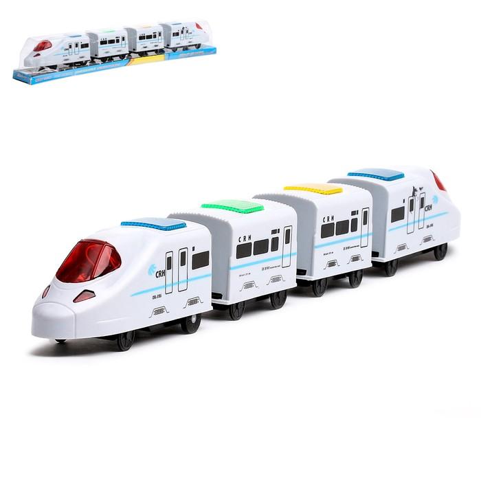 Поезд «Скорость», работает от батареек, световые и звуковые эффекты