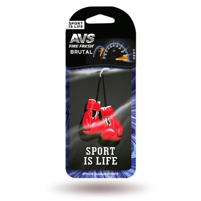 "Ароматизатор AVS Sport is Life, ""Брутал"", бумажный"