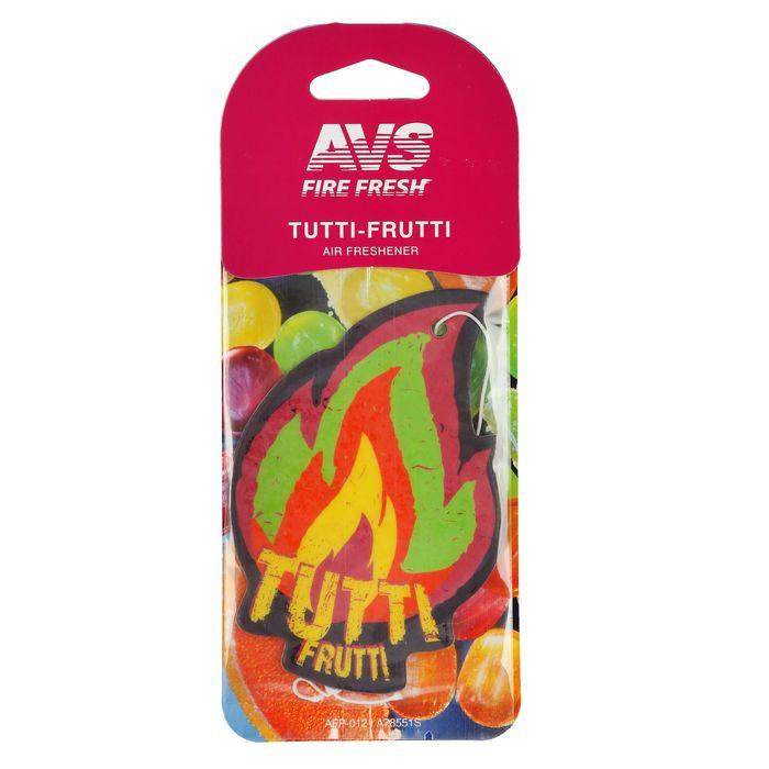 Ароматизатор AVS AFP-012 Fire Fresh, Тутти-Фрутти, бумажные
