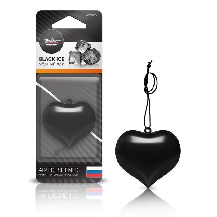 """Ароматизатор подвесной пластик """"Сердце"""" AFSE003, черный лед"""