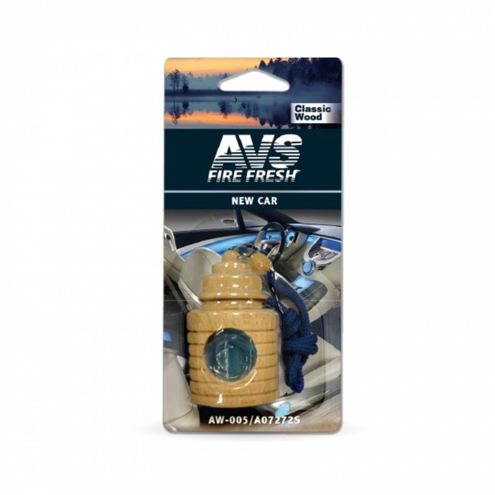 """Ароматизатор AVS, Classic Wood, """"Новая машина"""", жидкостный"""