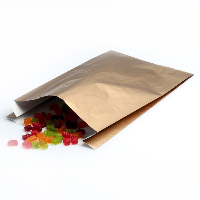 Пакет подарочный, металлизированный, цвет медный, 25 х 7 х 40 см