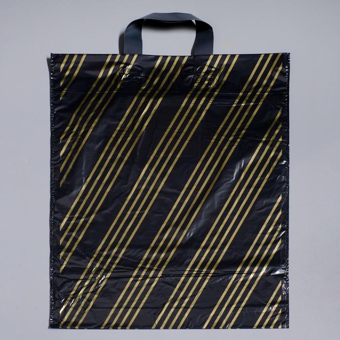 """Пакет """"Золотая полоса"""", полиэтиленовый с петлевой ручкой, 38х45 см, 45 мкм"""