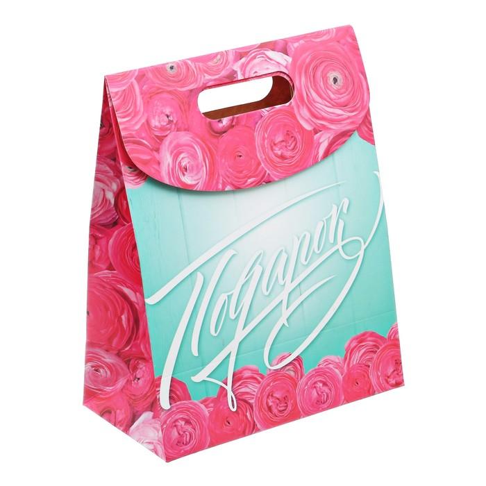 Пакет подарочный «Подарок», 18 × 23 × 10 см