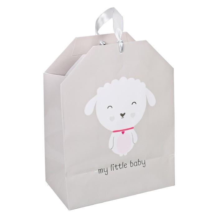 Пакет подарочный «Барашек», 19,5 × 25,6 × 11 см
