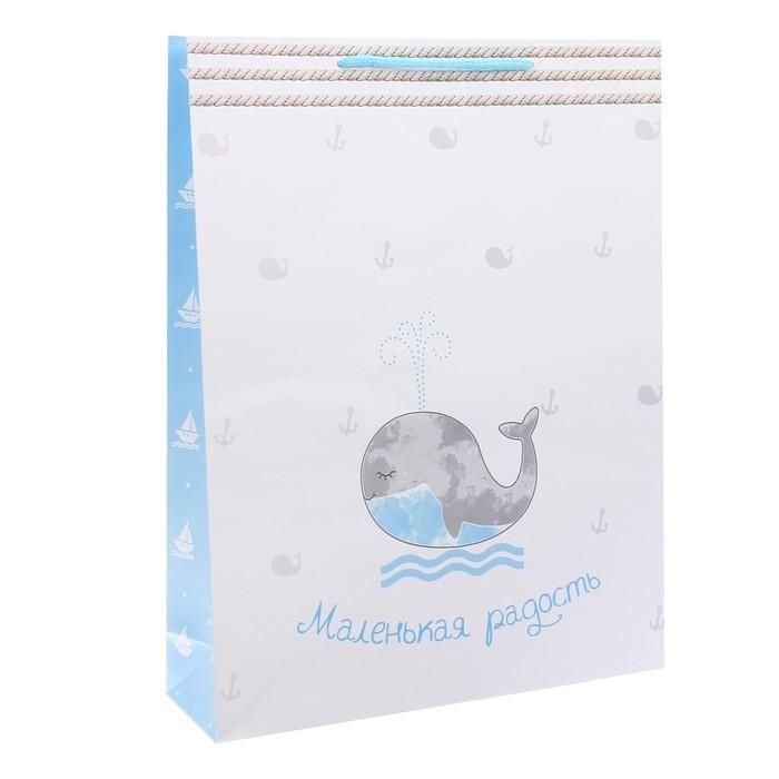 Пакет ламинированный вертикальный «Маленькая радость», L 40 × 31 × 9 см