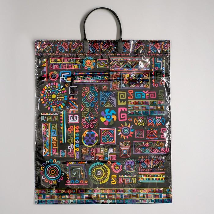 """Пакет """"Геометрический орнамент"""", полиэтиленовый с пластиковой ручкой, 40 х 44 см, 100 мкм"""