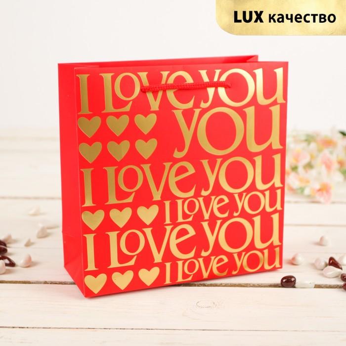 """Пакет подарочный """"Любовь"""", 20 х 8 х 20 см"""