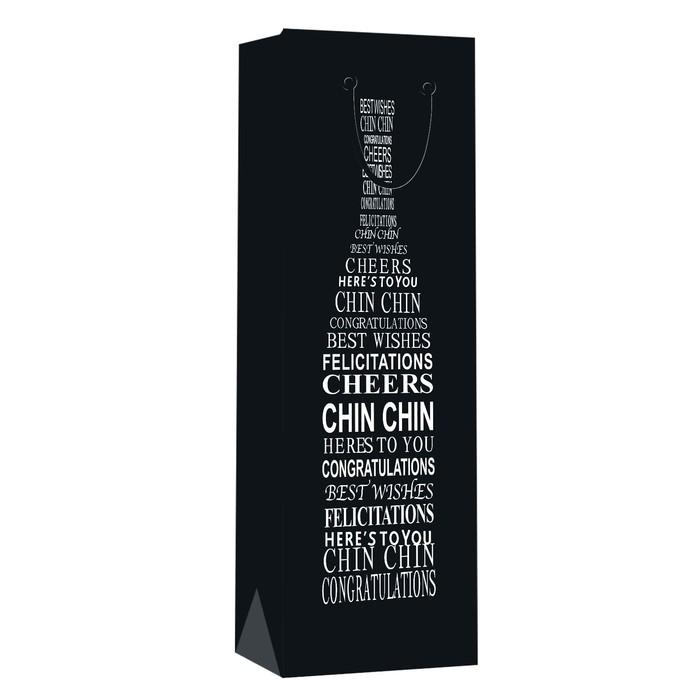 Пакет ламинированный под бутылку 12*36*9