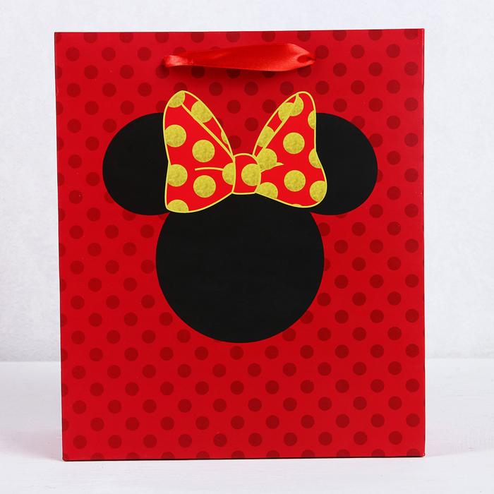 Пакет подарочный «Минни», Минни Маус, 23х27х11,5 см