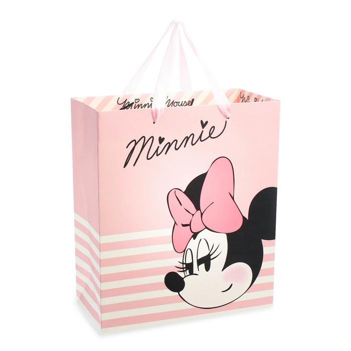 Пакет ламинат вертикальный Minnie, 23х27х11 см, Минни Маус