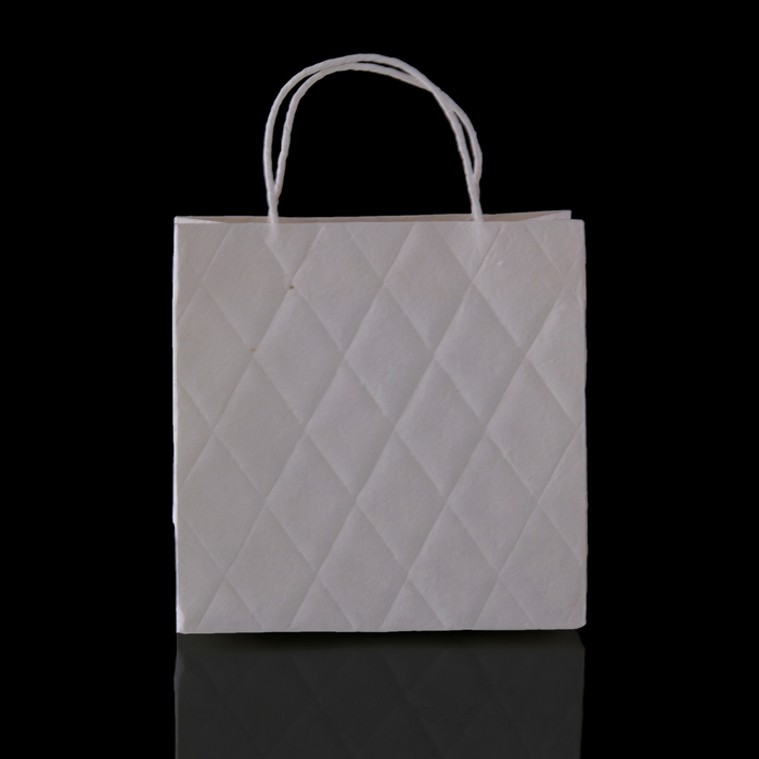 """Пакет подарочный """"Париж"""", белый, 8 х 20 х 20 см"""