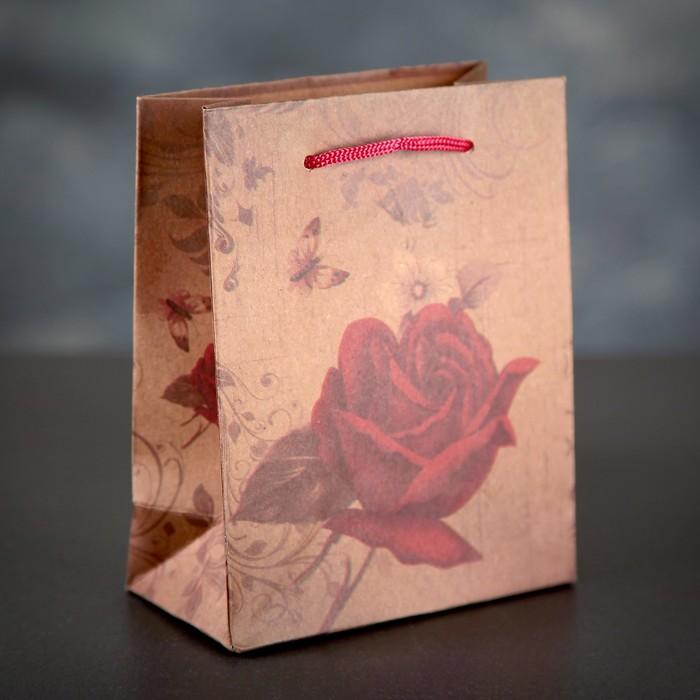 "Пакет крафт ""Роза"", 12 х 5,5 х 15,5 см"
