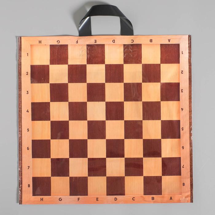 """Пакет """"Шах и мат"""", полиэтиленовый с петлевой ручкой, 42х44 см, 70 мкм"""