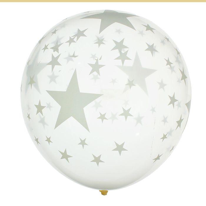 """Набор воздушных шаров """"Звёзды белые"""" 5 шт. 10"""""""
