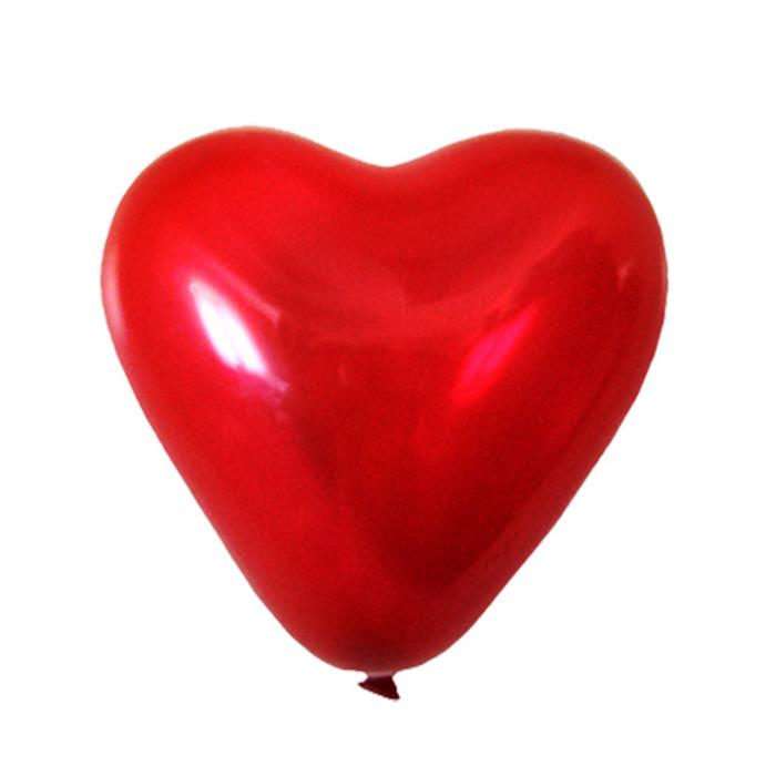 """Шар латексный 15"""", сердце, декоратор, набор 25 шт., цвет тёмно-красный"""