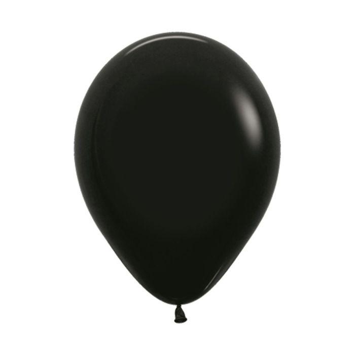 """Шар латексный 5"""", пастель, набор 100 шт., цвет чёрный 080"""