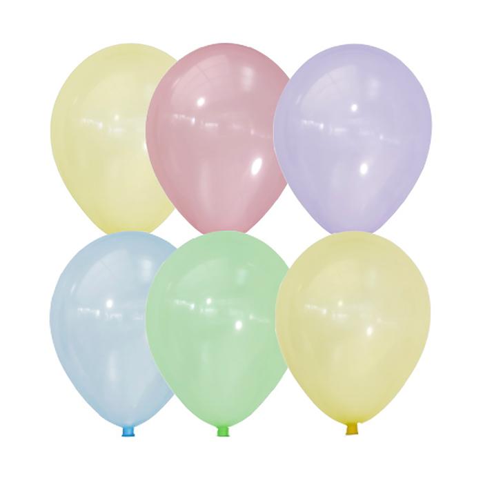 "Шар латексный 12"" ""Bubble"", кристалл, набор 100 шт., МИКС"