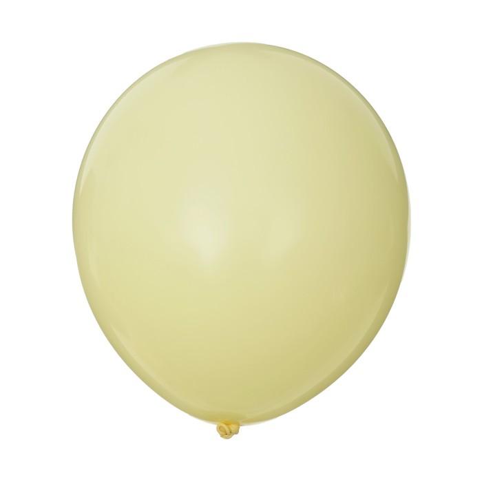 """Шар латексный 12"""" """"Макарун"""", набор 15 шт, цвет желтый"""