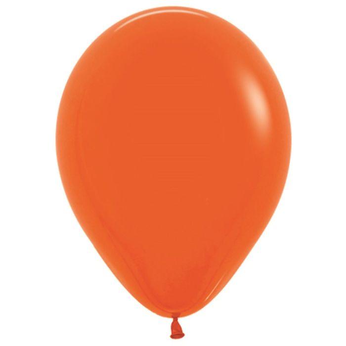 """Шар латексный 12"""", пастель, набор 100 шт., цвет оранжевый 061"""