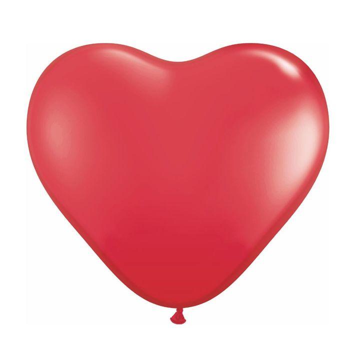 """Шар латексный Сердце 12"""" Пастель 100 шт. Красный KLS"""