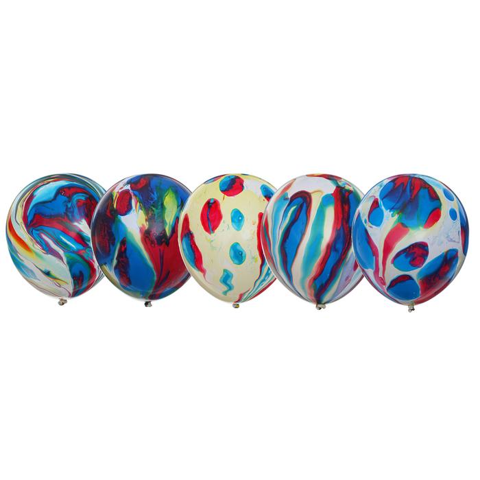"""Набор шаров 9"""" Многоцветный, 10 шт."""