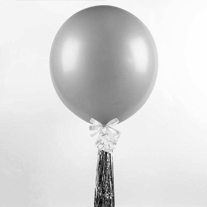 """Воздушный шар, 36"""", с тассел лентой, открытка, белый"""