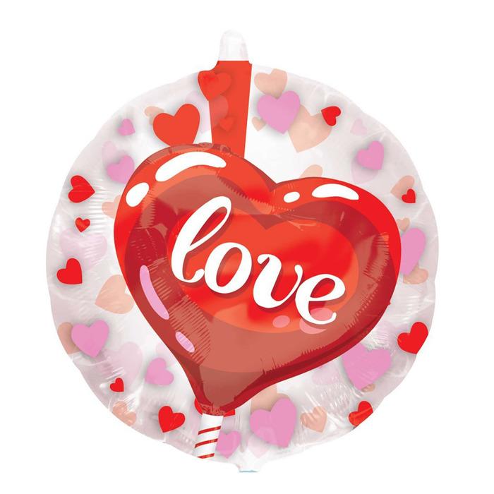"""Шар фольгированный 24"""" Love, сердце, джамбо/инсайдер"""