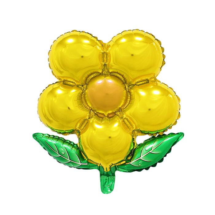 """Шар фольгированный 20"""" """"Цветок"""" с клапаном, цвет жёлтый"""