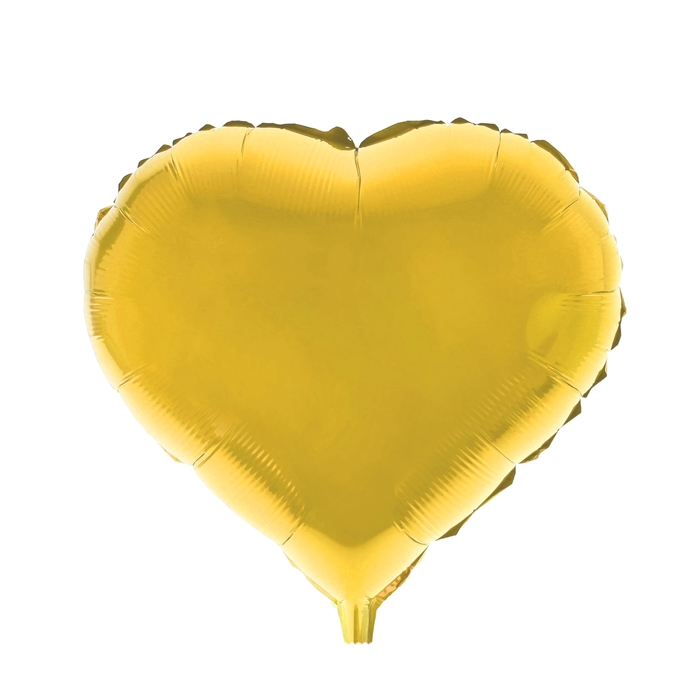"""Шар фольгированный 18"""", сердце, цвета МИКС"""