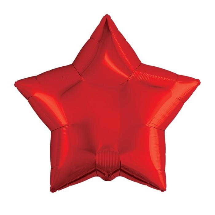 """Шар фольгированный 21"""" звезда, цвет красный"""