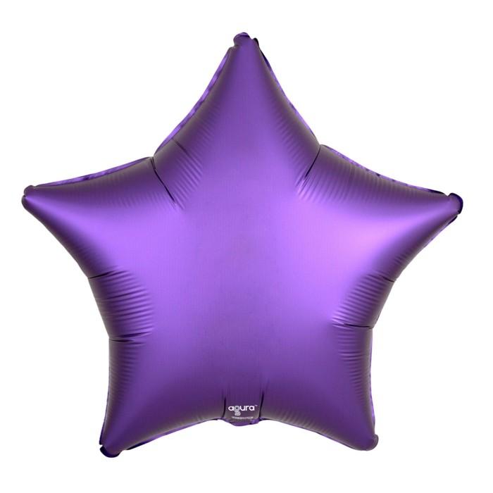 """Шар фольгированный 21"""" звезда, цвет пурпурный, мистик"""