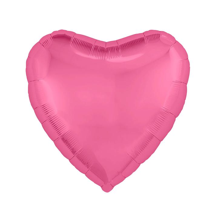 """Шар фольгированный 19"""", сердце, цвет пион"""